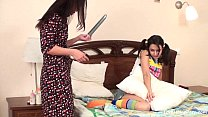 Maids in colorful clothes using the kinkiest toys