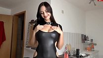 Fuck with girl in latex (home porn, cum on ass, cool tits) porn videos