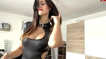 Fuck with girl in latex (home porn, cum on ass,...