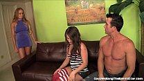 Horny Couple Take Advantage Of The Hot Babysitter!