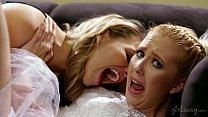 Sexy Blonde Lesbians Samantha Rone and Mia Malkova