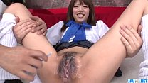 Miyu Aoi Asian schoolgirl plays with pussy on cam
