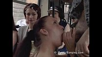 Awesome sex action in a public bus