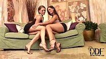 Lesbian foot fun with Eve Angel