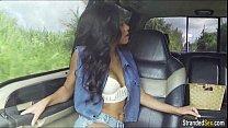 Teen Diamond Monroe hitches ride n gives strang... thumb
