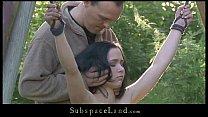 Petite slave suffers rough bondage sub as her m...