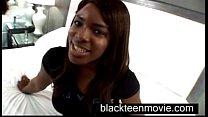 Ebony teen amateur makes first porn