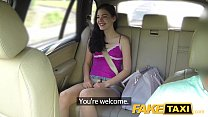 cock big on screams brunette taxi Fake