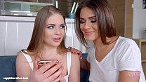 sapphic selfie by sapphic erotica   sensual lesbian scene with alessandra jane e