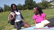 Ebony Sorority Girls Have Pussy Licking Good Time thumb