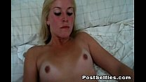 Wild Blonde Babe Rubs Her Shaved Pussy