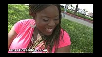 Busty Black BBW Mianna Thomas Fucks White Cocks thumbnail