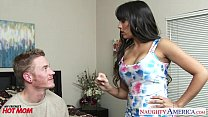 Fake titted mom Mercedes Carrera fuck a hard cock
