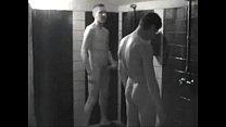 straight friends locker room shower hard on