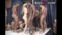 Men wait in line to fuck this slut - free porn ...