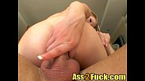 Big meaty cock disappears deep inside tight ass...