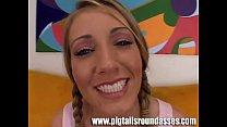 cute blonde with pigtails barbie cummings