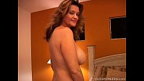 Naughty MILF plays with her pussy and blows the...