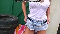 Public sex with a hottie