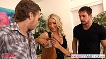 Busty mom Emma Starr suck and fuck two cocks in threesome - download porn videos