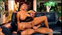 Big tits European babe Jasmine Black