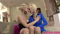 Lily Labeau And Proxy Paige Masturbates In The Same Room