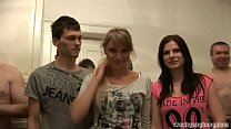 GIRLFRIEND AND HER SISTER GET FUCKED AT CZECH G...