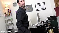 Hot MILF Boss Likes It Rough!