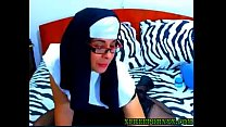 sexiest NUN ever playing with herself on cam(woocams.lsl.com)
