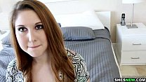 ShesNew Phat ass pale redhead Rose Red loves bi...