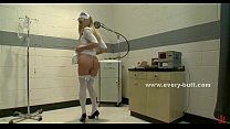 stockings white in nurse blonde Nasty