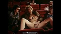 Classic vintage horny woman gangbang in the cinema thumb