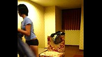 homemade vid cute filipina maid lily strips for action