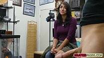 Busty latina lady with big tits fucked hard for...