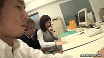 Sasaki the office worker stimulated during her ...