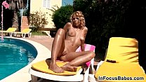 masturbates alica babe bikini blonde Fit
