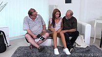 old goes young   sofia like fuck with two old guys