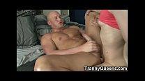 Tranny Teen Made Him Lick His Own Cum!