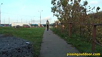 Pissing near the highway