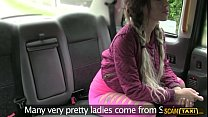 Fucking hot brunette babe gets facial in the backseat of the taxi porn videos