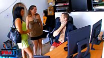Swinger couple have hot threesome with the maid
