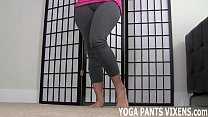 These yoga pants hug my pussy so tightly JOI