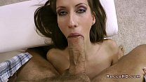Firm small tits brunette blowjob and fucking POV - download porn videos