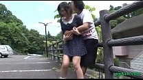 Asian Girl Fucked While Bending To The Fence Outdoor porn videos