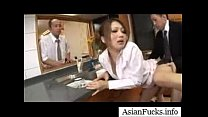 asian in a maid cosplay takes a load in her mouth pussy and ass part 4