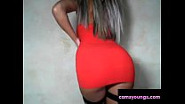 Hot Blonde Sexy Red Dress Dance, Free Porn fe: