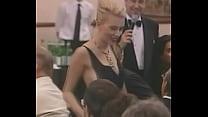 scarlett johansson falls out of her dress