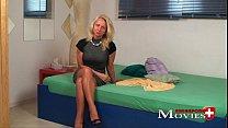 Hot blonde ex-model Claudia in porn casting thumb