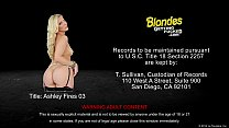 Blonde Ashley Fires takes a large prick