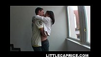 Little Caprice hooks up with some guy at the st...